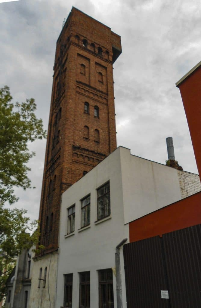 tower of the lead shot factory at Daugavpils