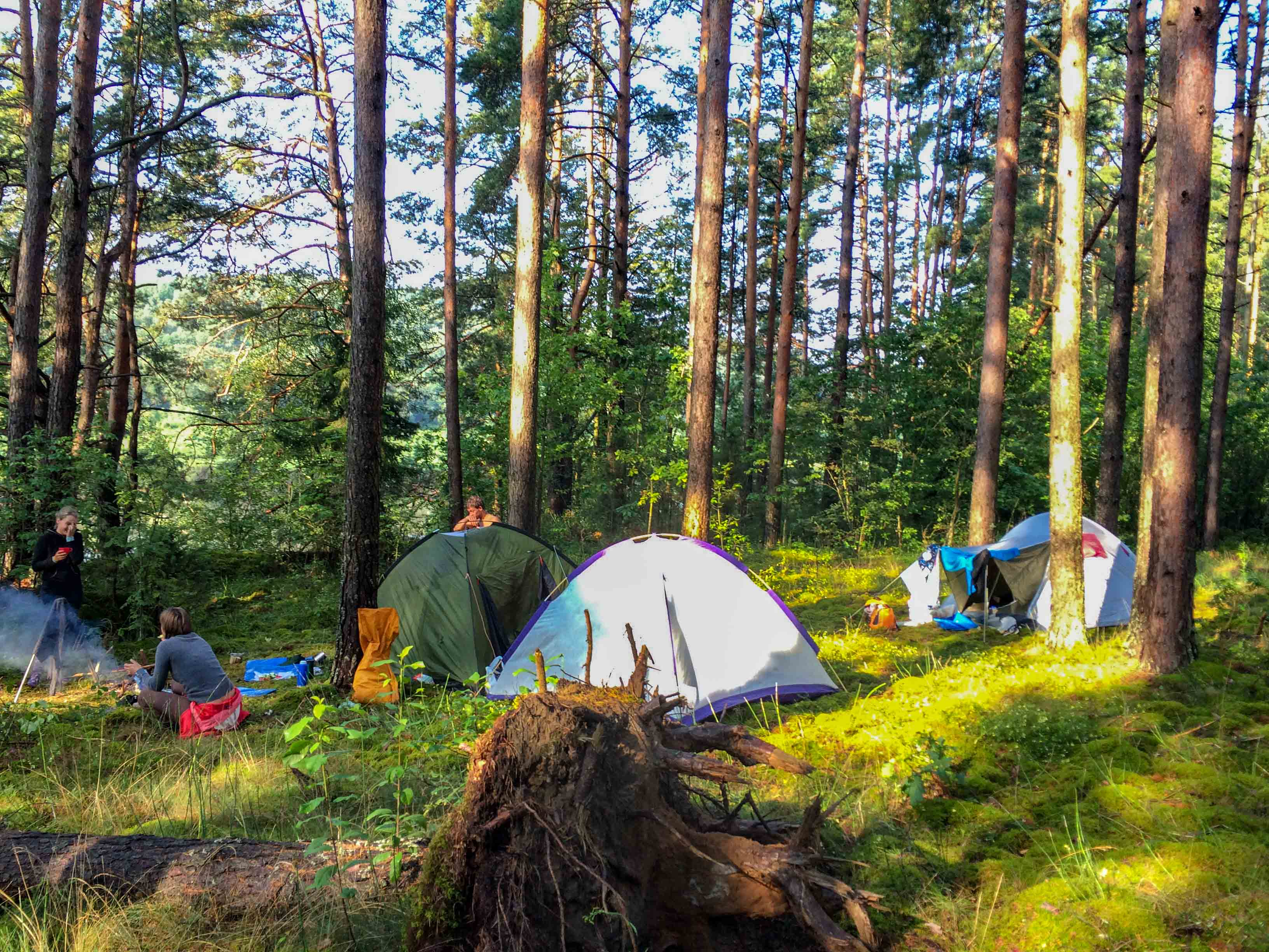 camping on the shore of the Daugava - Latvia