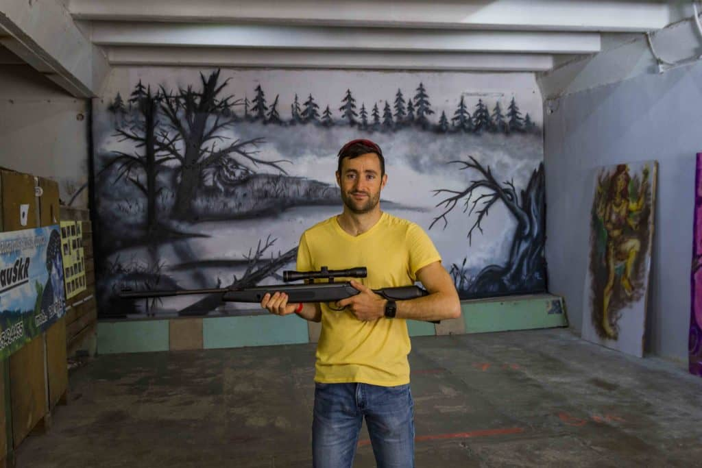 shooting range of the lead shot factory of Daugavpils
