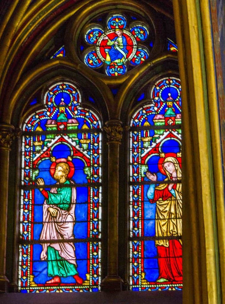 Sainte-Chapelle- (lower-chapel) - stained glass