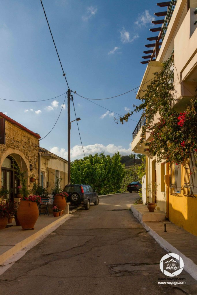 A street in Panormo Crete, Greece